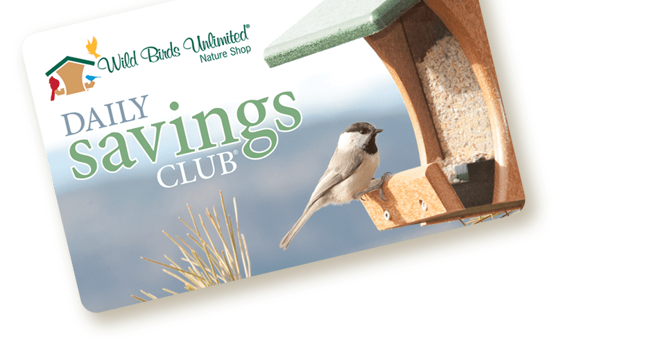 Daily Savings Club Card graphic, Wild Birds Unlimited, WBU