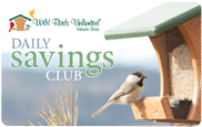 Daily Saving Card, Wild Birds Unlimited, WBU