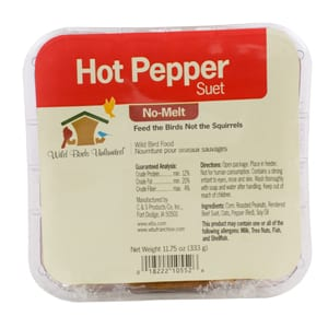 Hot Pepper No-Melt Suet, Bird Food, Wild Birds Unlimited, WBU