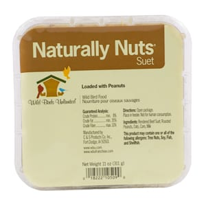 Naturally Nuts Suet, Bird Food, Wild Birds Unlimited, WBU