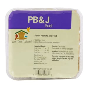 PB&J Suet, Peanut Butter & Jelly Suet, Bird Food, Wild Birds Unlimited, WBU