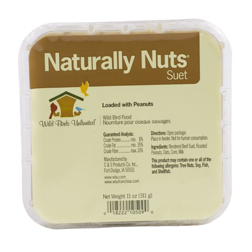 Naturally Nuts Suet, Bird Food, Wild Birds Unlimited, WBU